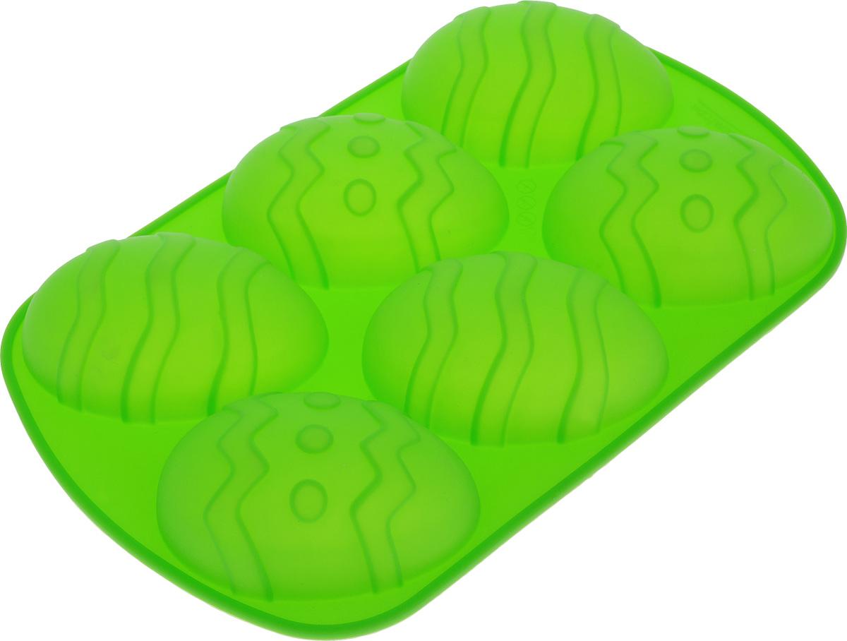 Форма для выпечки Marmiton Пасхальное яйцо, силиконовая, цвет в ассортименте, 6 ячеек