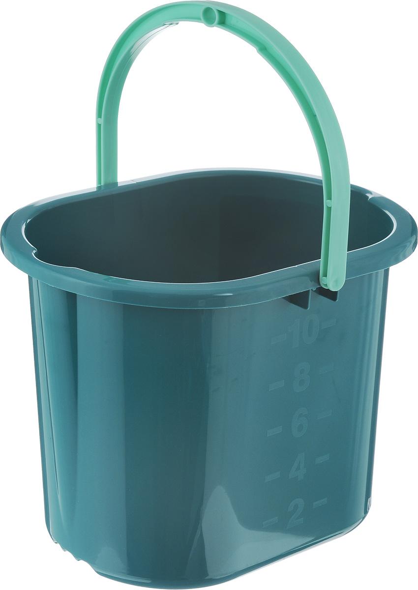 Ведро для мытья полов Hausmann, цвет: темно-зеленый, 10 л monkey wars