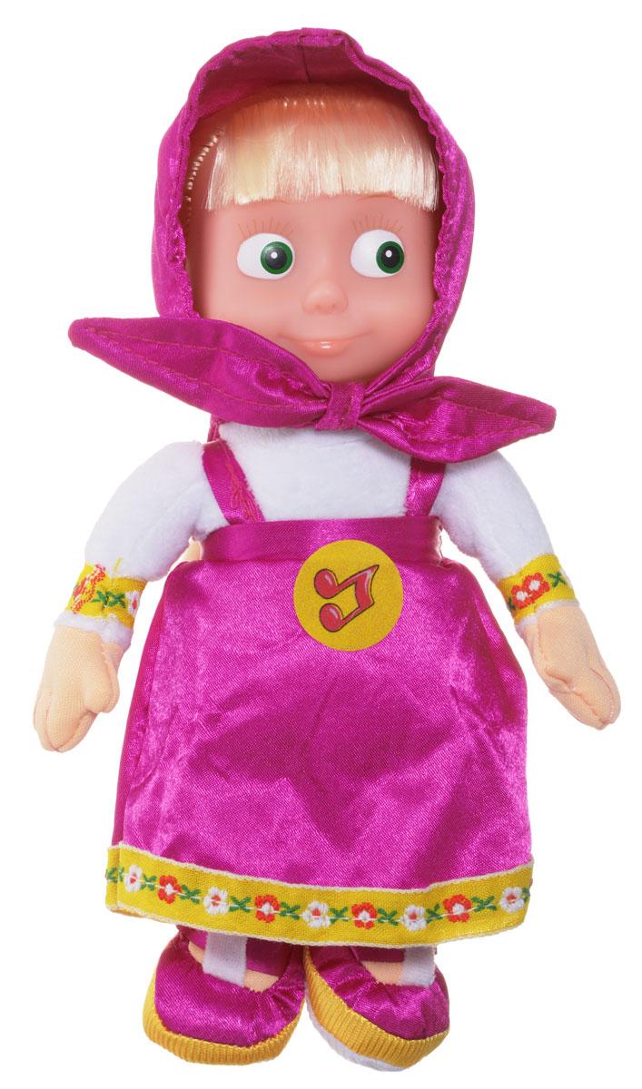 Мульти-Пульти Кукла мягкая озвученная Маша цвет платья малиновый