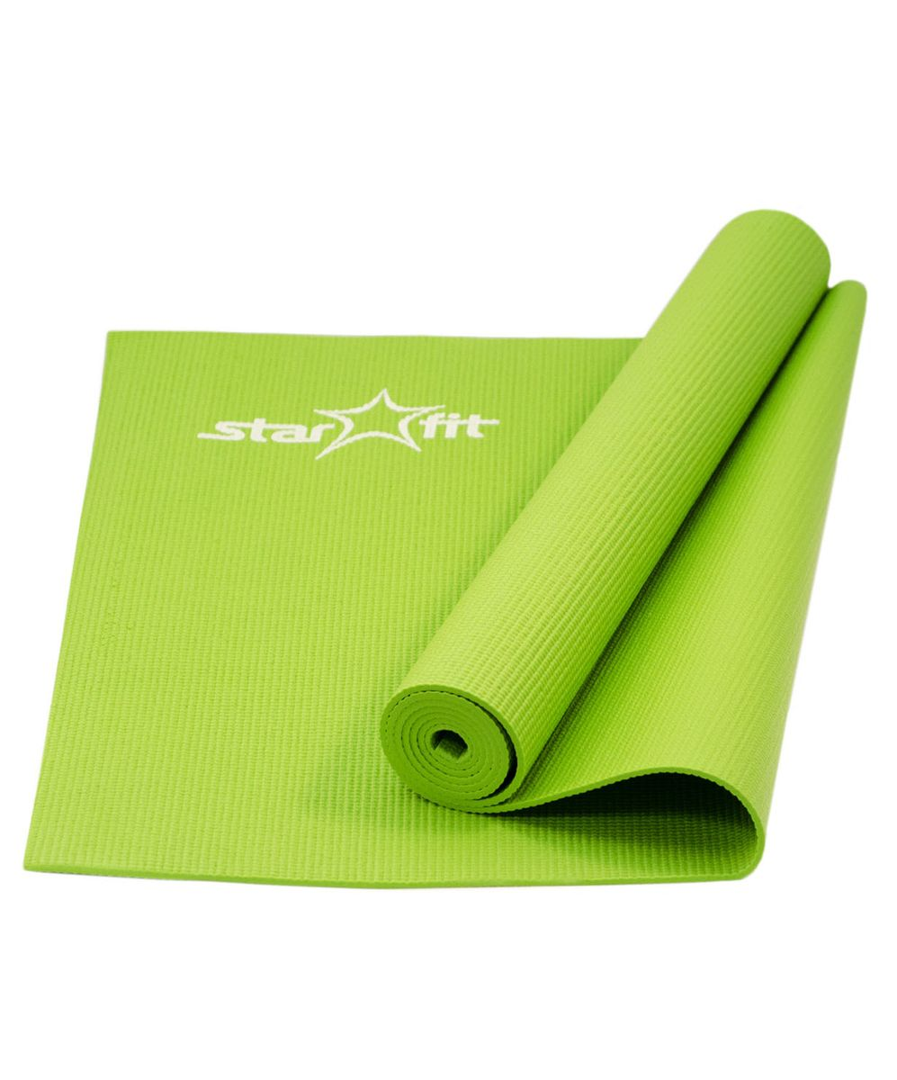 Коврик для йоги Starfit FM-101, цвет: зеленый, 173 x 61 x 0,4 см цена
