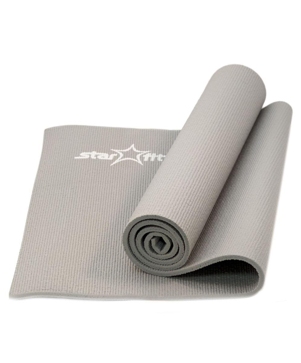 Коврик для йоги Starfit FM-101, цвет: серый, 173 x 61 x 1 см цена