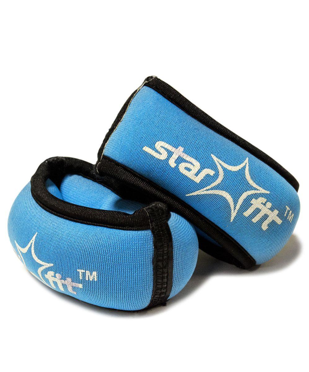 """Утяжелители для рук Starfit """"WT-101"""", цвет: синий, черный, 0,5 кг, 2 шт"""