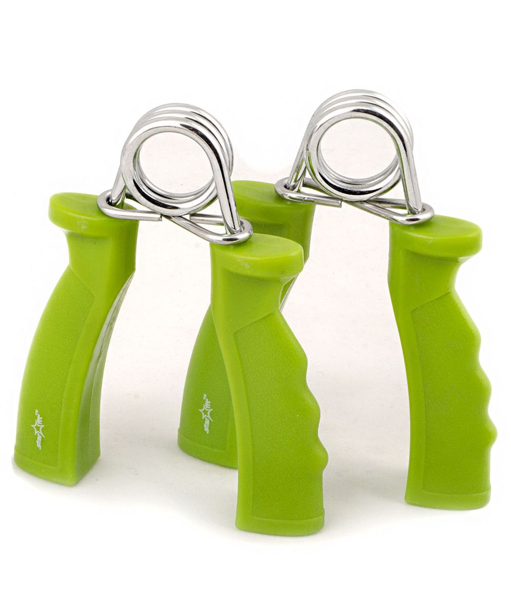 Эспандер кистевой пружинный ES-301, пара, жесткая ручка, зеленый эспандер кистевой torneo hand зеленый