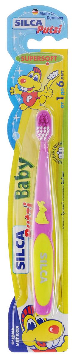 Silca Putzi Зубная щетка Baby от 1 до 6 лет цвет в ассортименте silca med набор зубная паста со вкусом колы щетка с 6 лет цвет зеленый