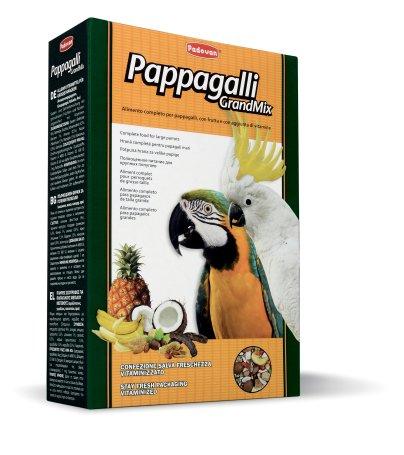 Корм Padovan Pappagalli Grandmix, для крупных попугаев, 600 г padovan корм padovan lino для птиц зёрна льна 1 кг