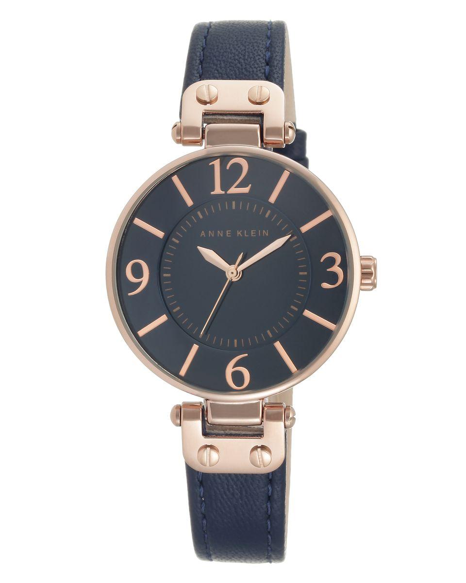 лучшая цена Наручные часы женские Anne Klein, цвет: золотистый, синий. 9168RGNV