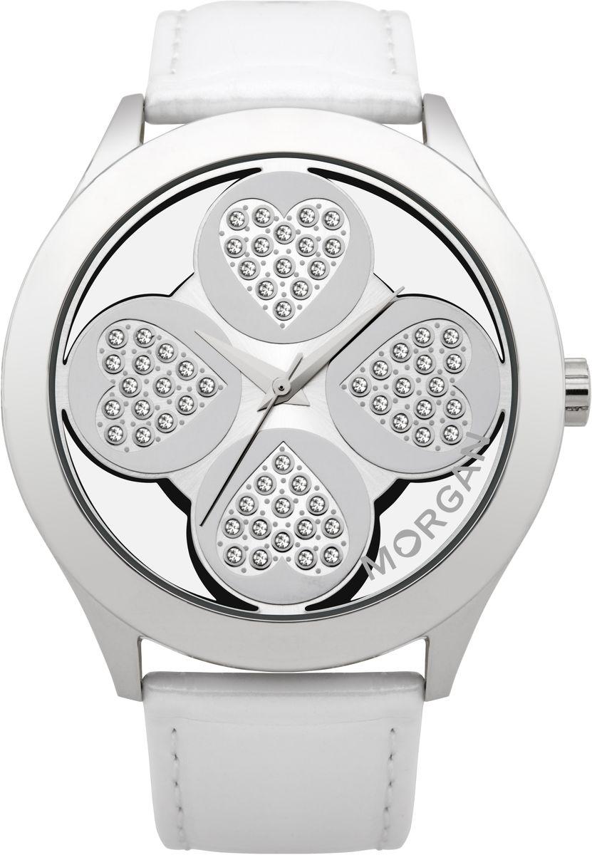 лучшая цена Наручные часы женские Morgan, цвет: серый металлик, белый. M1133WBR