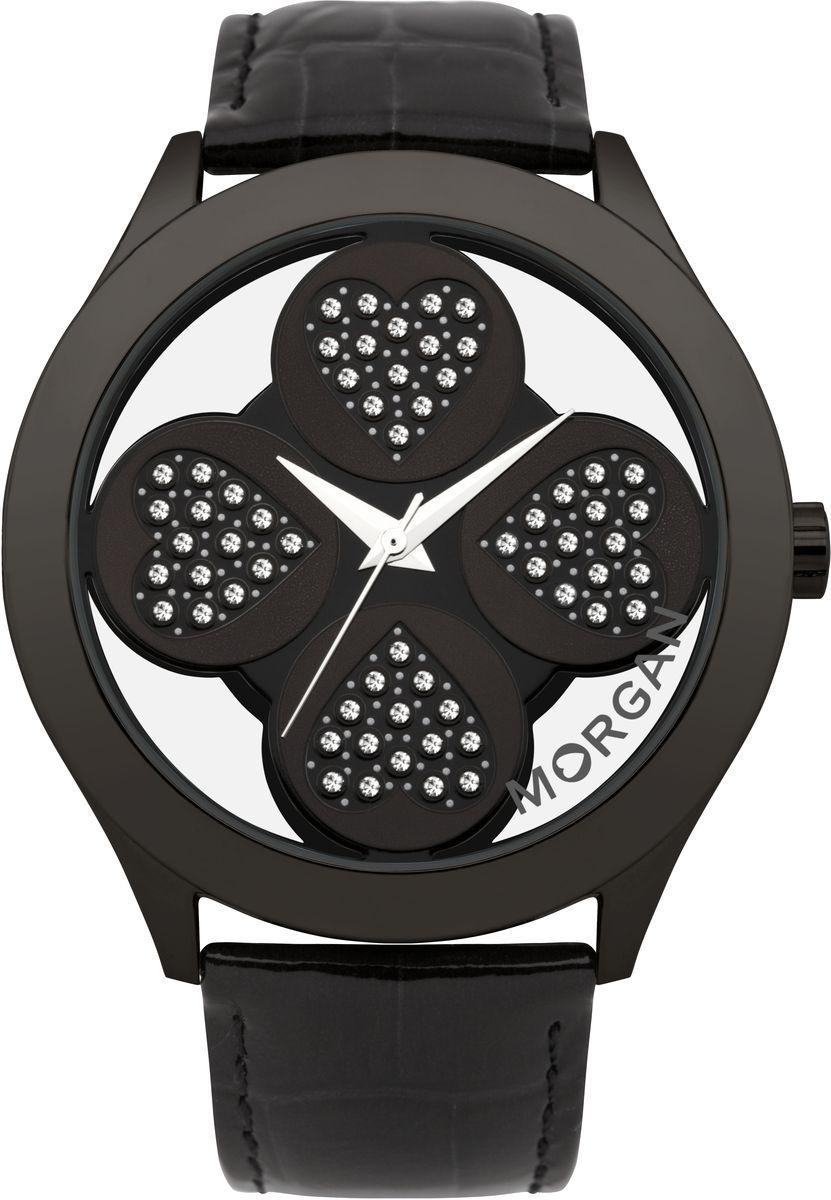 лучшая цена Наручные часы женские Morgan, цвет: черный. M1133BBBR