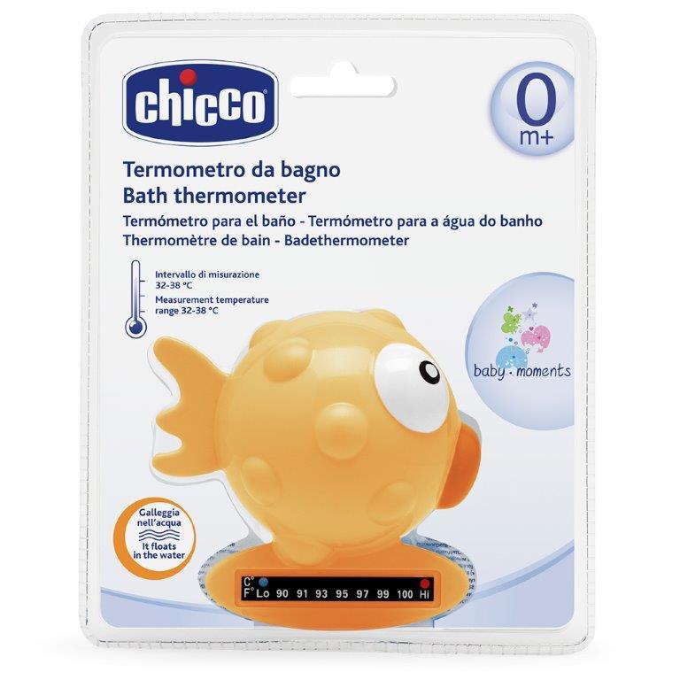 Chicco Термометр для ванны Рыба-Шар цвет желтый от 0 месяцев термометр педиатрический digibaby 3в1 цифровой в футляре 0 мес chicco аксессуары