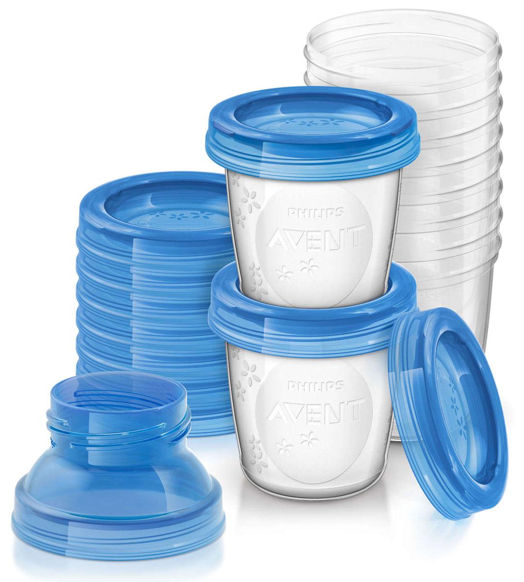 Philips Avent Контейнеры для хранения грудного молока SCF618/10 philips avent контейнеры с крышками для хранения питания 5 шт 240 мл philips avent