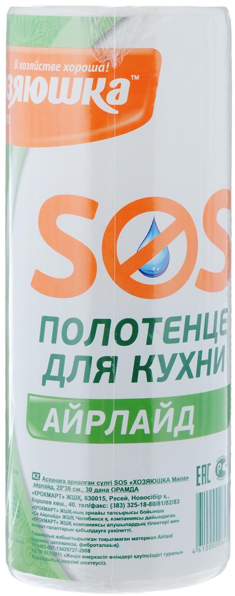 Полотенце для кухни Хозяюшка Мила SOS, цвет: белый, 20 х 36 см, 30 шт пакет для запекания хозяюшка мила 30 х 40 см 5 шт