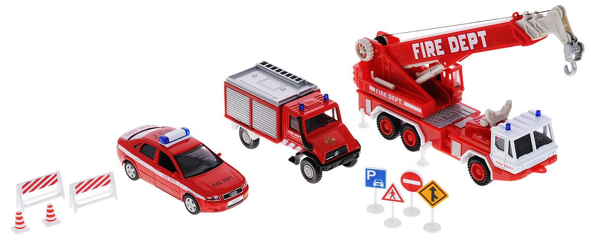 Welly Игровой набор Пожарная служба 11 предметов welly набор машинок пожарная служба 3 шт