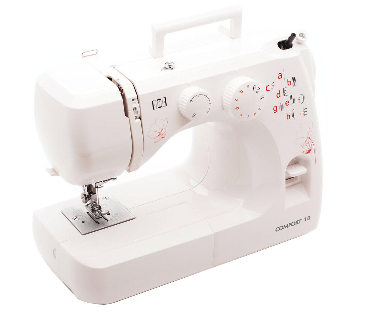 Швейная машина Comfort 10, White в пластиковом кейсе
