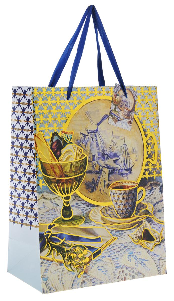 Пакет подарочный Феникс-Презент Натюрморт, 26 х 32,4 х 12,7 см пакет подарочный феникс презент каток 26 х 33 х 13 см