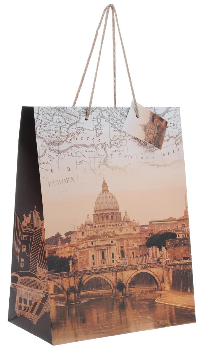 Пакет подарочный Феникс-Презент Рим, 26 х 32,4 х 12,7 см пакет подарочный феникс презент каток 26 х 33 х 13 см