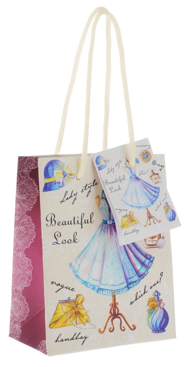 Пакет подарочный Феникс-Презент Голубое платье, 11 х 13,7 х 6,2 см пакет подарочный феникс презент каток 26 х 33 х 13 см