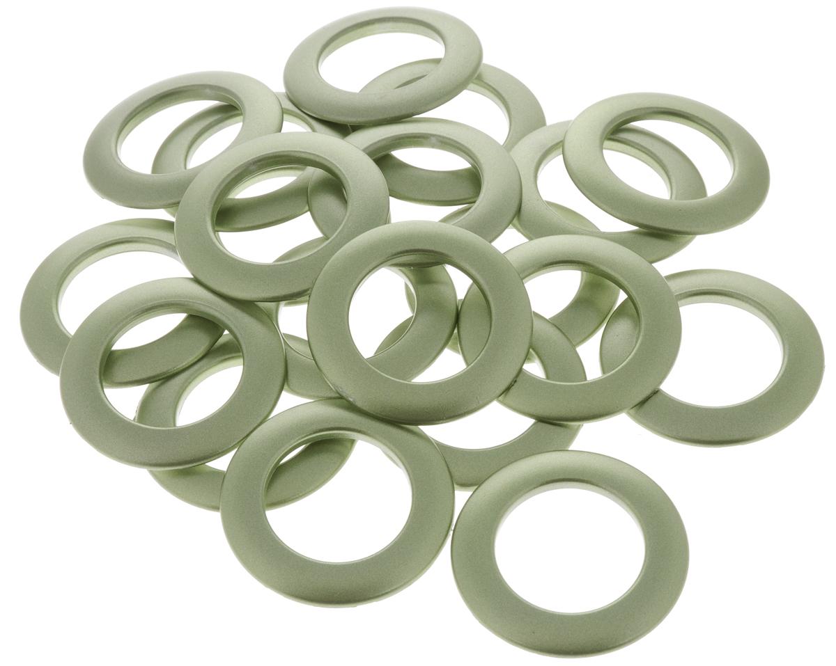 """Набор люверсов """"Belladonna"""", цвет: зеленый металлик, диаметр 35 мм, 10 шт"""