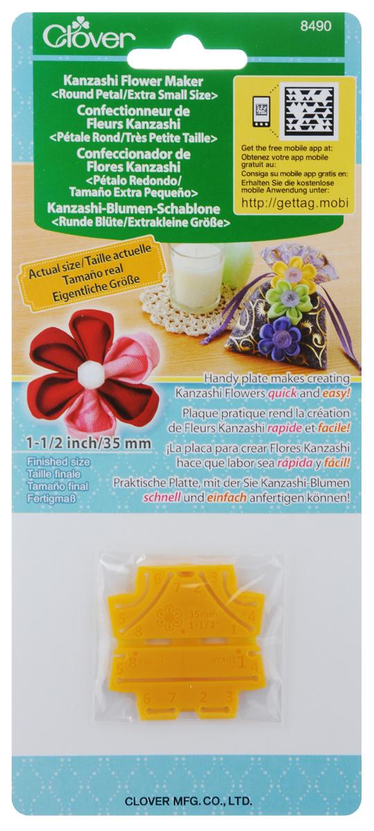 Шаблон для изготовления декоративных цветов Clover Закругленный лепесток, 4,2 х 4,2 см цветы канзаши