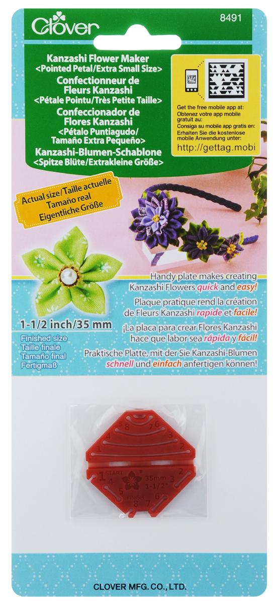Шаблон для изготовления декоративных цветов Clover Заостренный лепесток, 4 х 4 см цветы канзаши