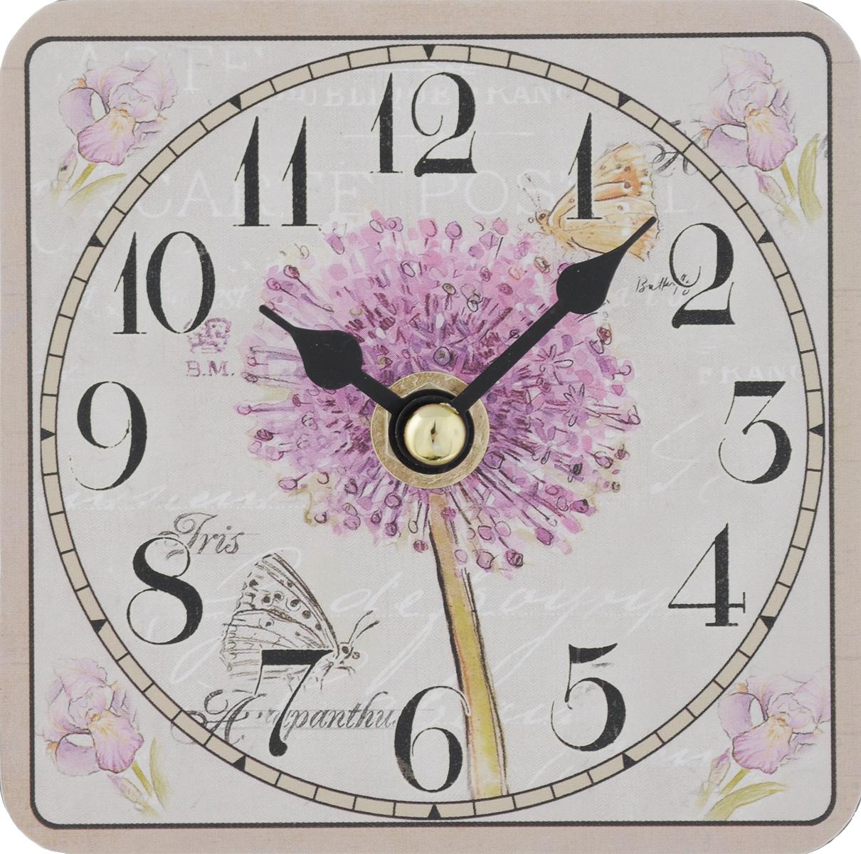 """Часы настольные Феникс-Презент """"Цветение"""", 10 х 10 см"""
