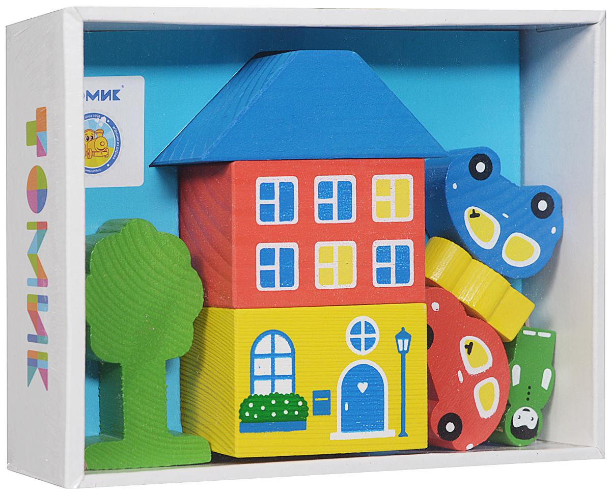 Деревянный конструктор Томик 4607057561490 конструктор для малышей томик веселый городок