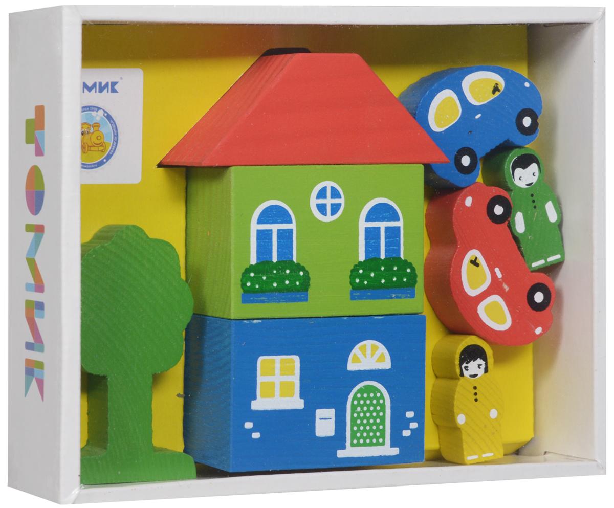 Деревянный конструктор Томик 4607057561452 конструктор для малышей томик веселый городок
