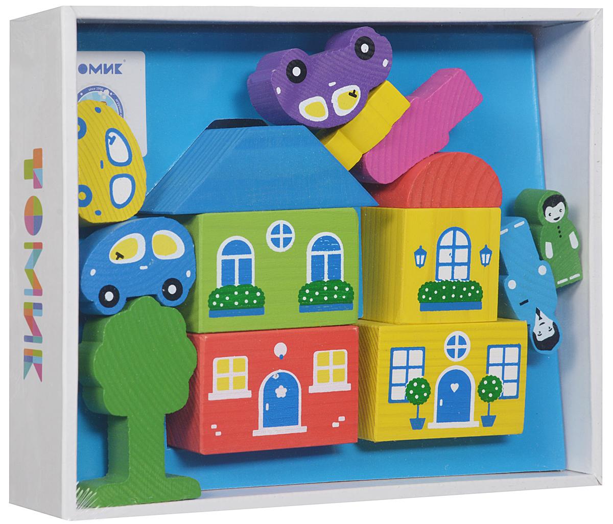 """Деревянный конструктор Томик 46070575613154607057561315Деревянный конструктор Томик """"Цветной городок"""" привлечет внимание вашего ребенка.С помощью конструктора ребенок сможет построить маленький городок с деревьями, фигурками людей и машинами. Дети часто используют построенные сооружения в своих сюжетных играх, поэтому в наборах конструкторов имеются фигурки машин, деревьев и людей. Малыш сможет не только построить целый город, но и как настоящий волшебник наполнить его жизнью. А придумывая сюжеты игр, ребенок развивает воображение, связную речь, овладевает навыками ролевого поведения."""