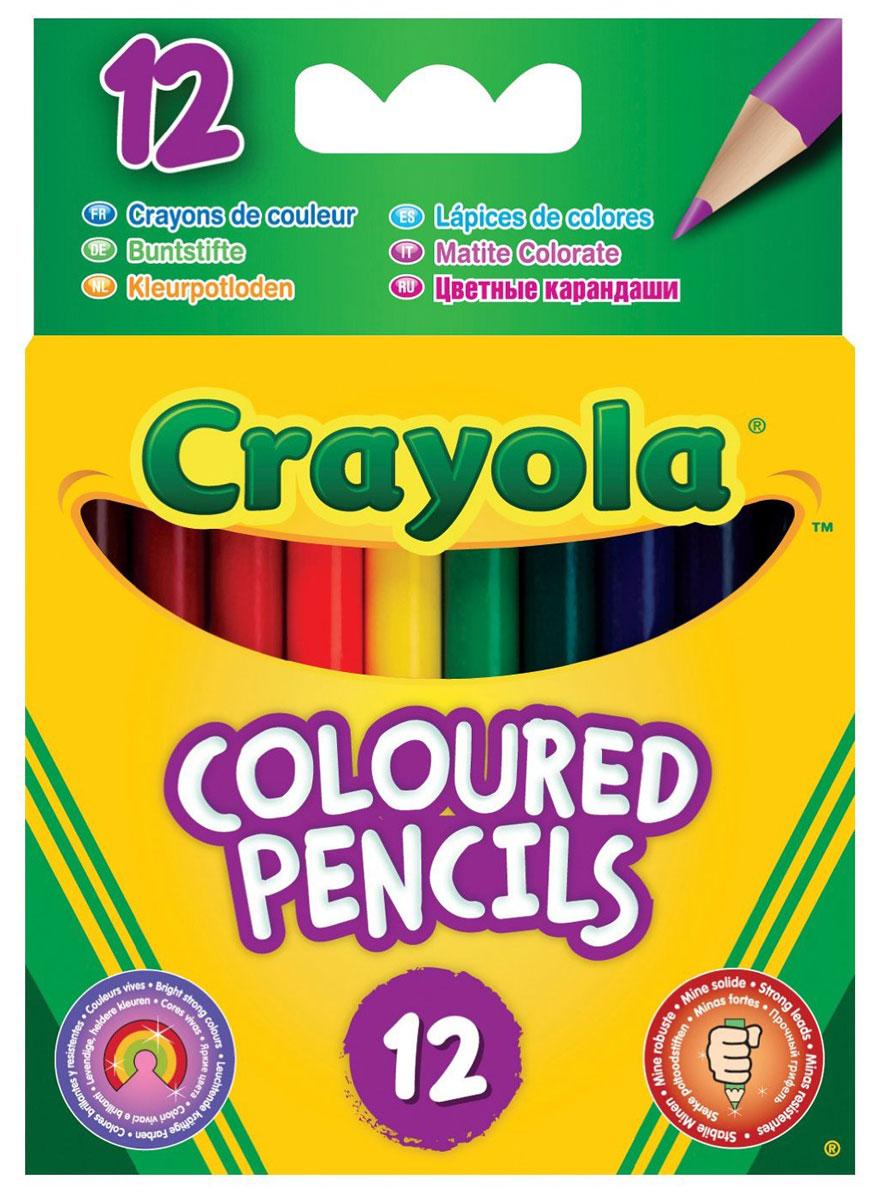 Crayola Набор коротких цветных карандашей 12 шт crayola llc crayola oil pastels 28 color set set of 12