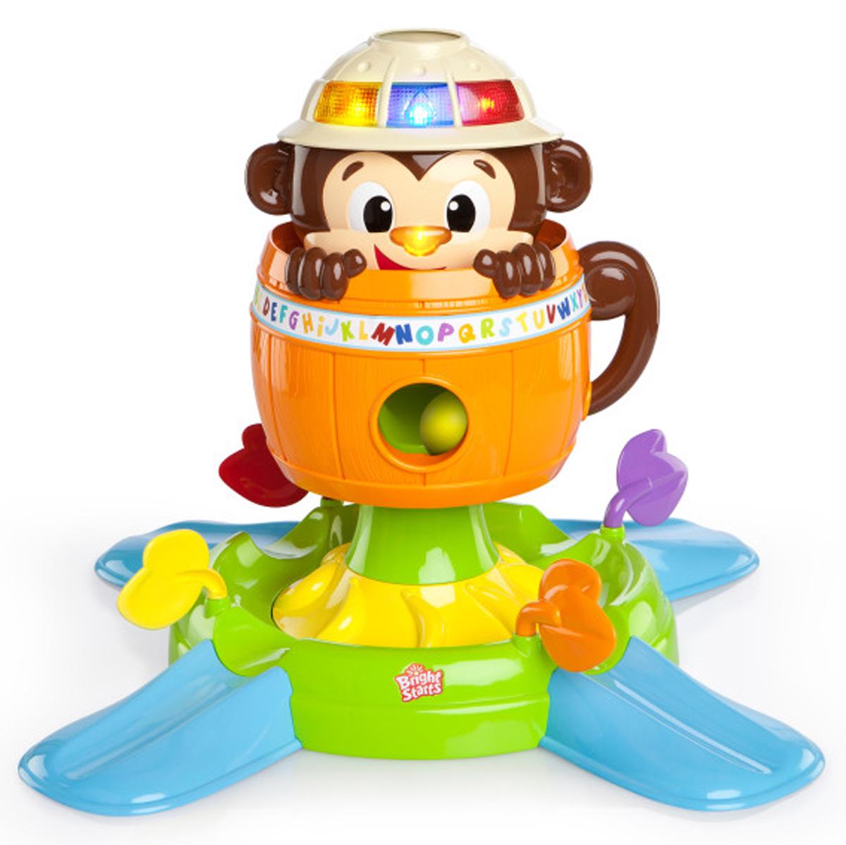 Bright Starts Развивающая игрушка Обезьянка в бочке недорого
