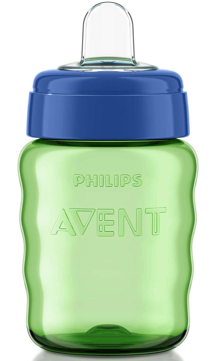 Philips Avent Поильник-непроливайка Comfort от 9 месяцев цвет салатовый синий 260 мл SCF553/00