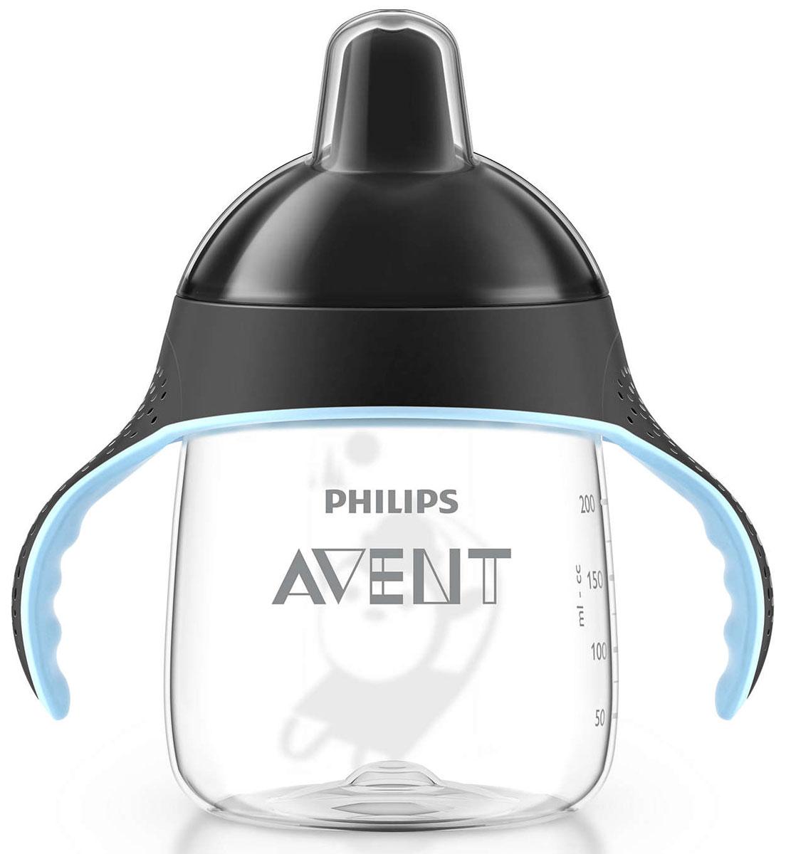 Philips Avent Волшебная чашка-непроливайка для детей от 12мес., черный SCF753/03 philips avent волшебная чашка непроливайка для детей от 12мес голубой scf753 00