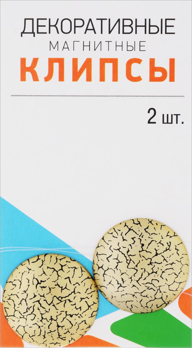 Клипсы магнитные для штор SmolTtx Мелкие трещины, с леской, цвет: золотистый, черный, длина 33,5 см, 2 шт544091_3ЕМагнитные клипсы SmolTtx Мелкие трещины предназначены для придания формы шторам. Изделие представляет собой соединенные леской два элемента, на внутренней поверхности которых расположены магниты. С помощью такой клипсы можно зафиксировать портьеры, придать им требуемое положение, сделать складки симметричными или приблизить портьеры. Следует отметить, что такие аксессуары для штор выполняют не только практическую функцию, но также являются одной из основных деталей декора, которая придает шторам восхитительный, стильный внешний вид. Длина клипсы (с учетом лески): 33,5 см. Диаметр клипсы: 3,5 см.