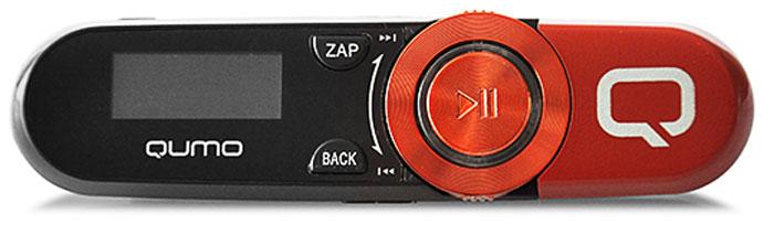 MP3 плеер Qumo Magnitola 4Gb, Red mp3 плеер qumo active orange spark