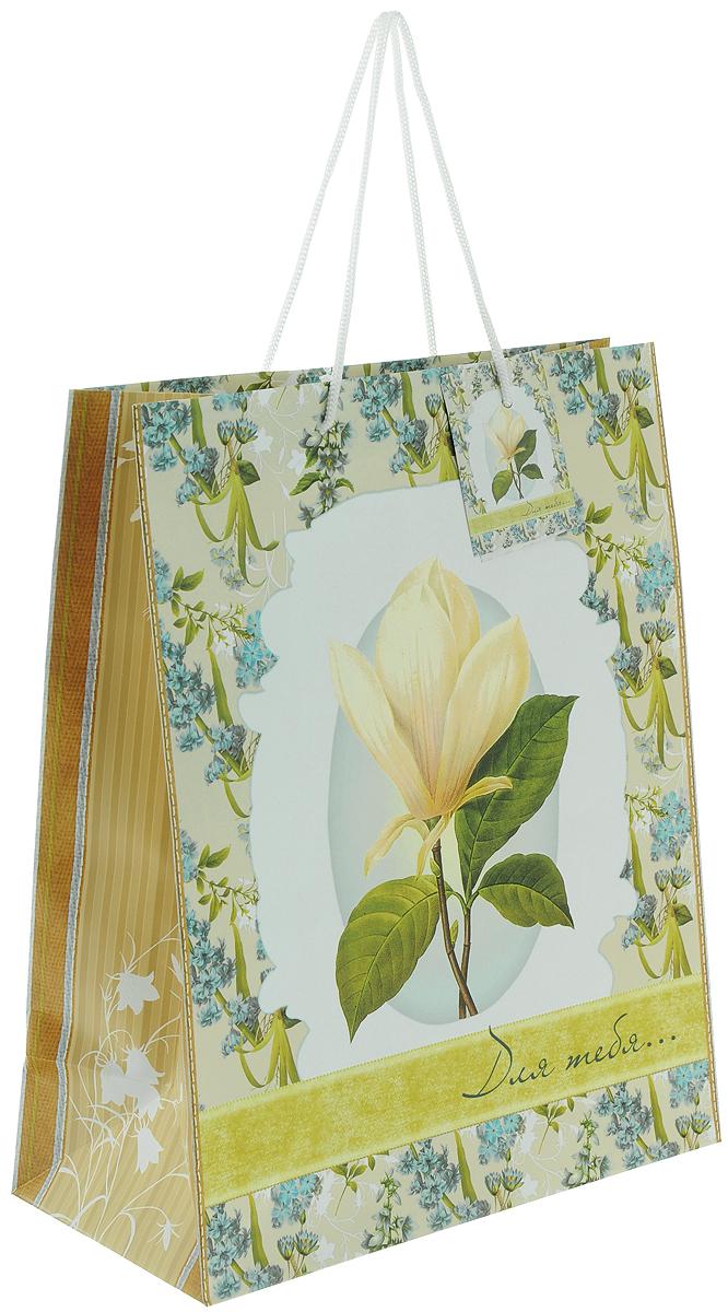 Пакет подарочный Феникс-Презент Летние цветы, 26 х 32,4 х 12,7 см пакет подарочный феникс презент каток 26 х 33 х 13 см