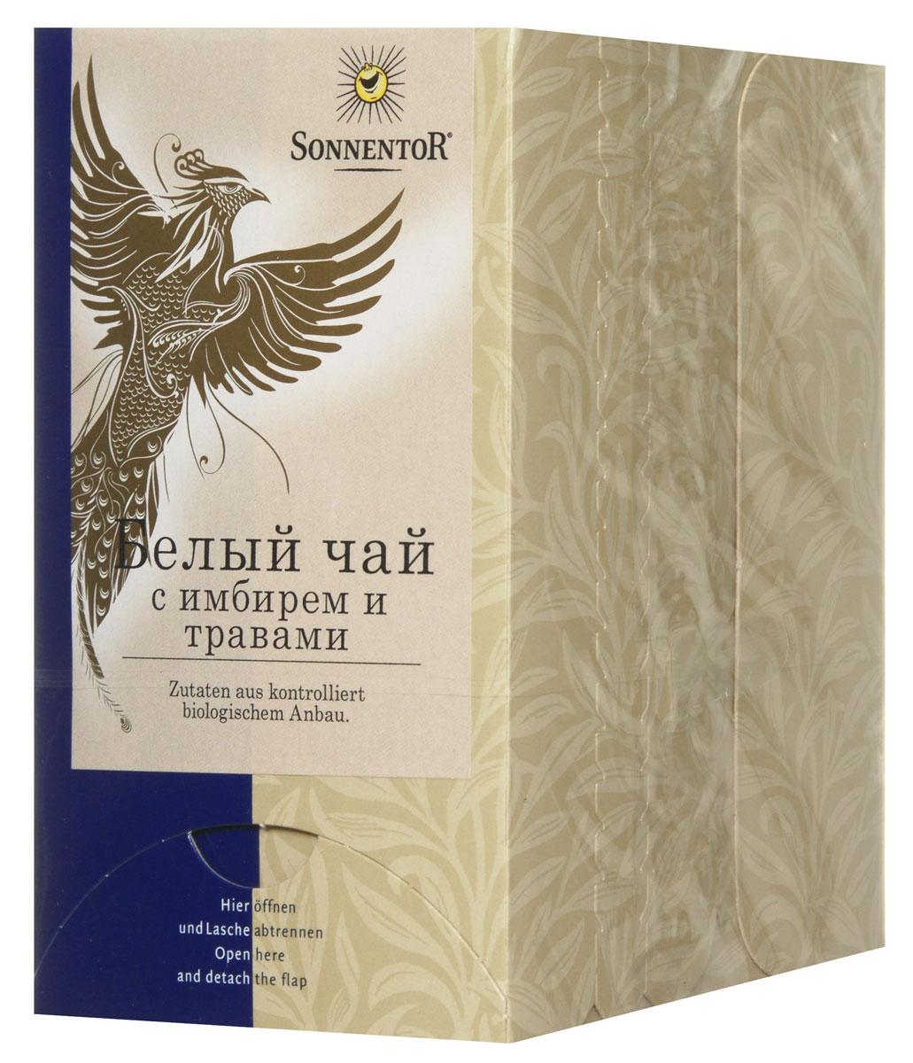 Sonnentor Белый чай с имбирем и травами, 18 пакетиков