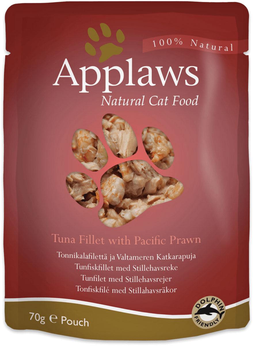 Консервы для кошек Applaws, с тунцом и королевскими креветками, 70 г корм для кошек applaws отзывы
