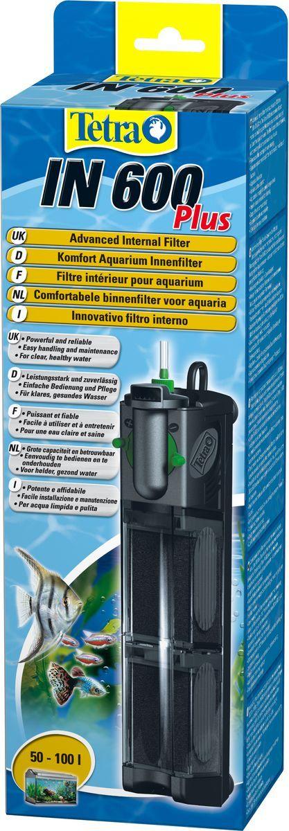 Фильтр внутренний Tetra IN 600 Plus, для аквариумов до 100 л запчасть tetra крепление для внутреннего фильтра easycrystal 250