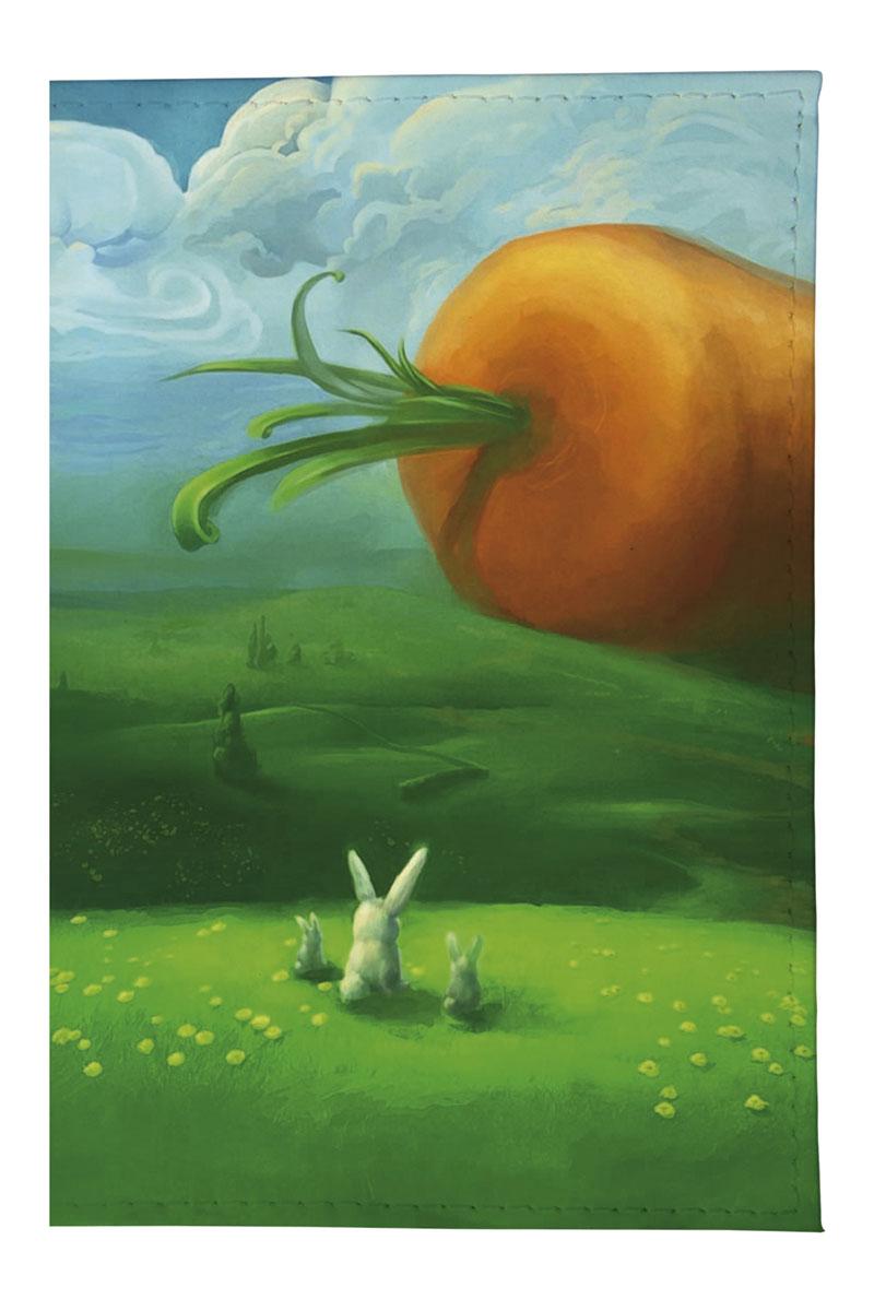Обложка для автодокументов женская Mitya Veselkov Заяц и морковка, цвет: мультицвет. AUTOZAM044 обложка для автодокументов женская mitya veselkov щас спою цвет белый auto389