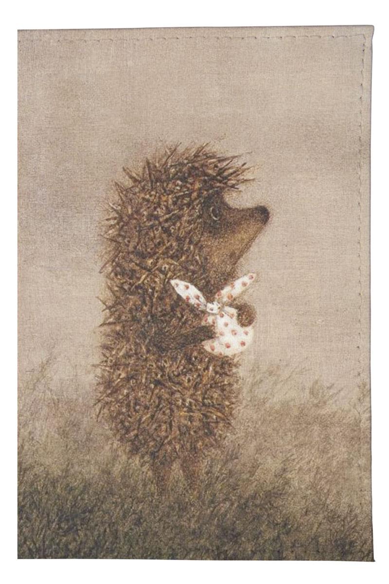 Обложка для автодокументов Mitya Veselkov Ежик с котомкой, цвет: серый. AUTOZAM041 обложка для автодокументов женская mitya veselkov щас спою цвет белый auto389