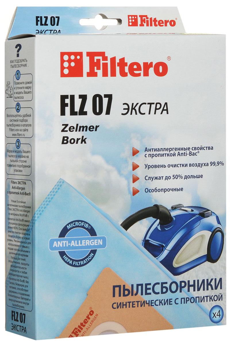 Filtero FLZ 07 Экстра пылесборник (4 шт) пылесос zelmer 829 0 st aquos