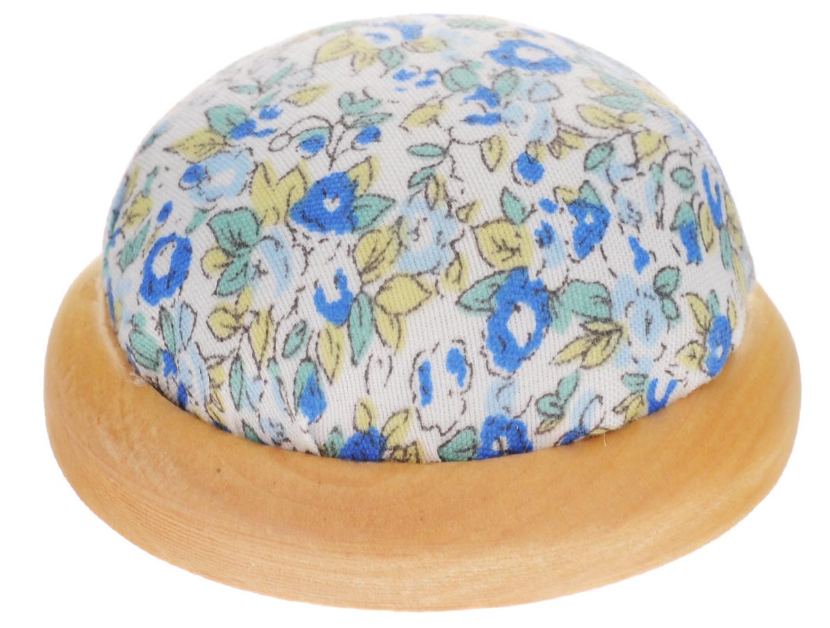 Игольница Феникс-Презент Цветы, цвет: голубой, белый, диаметр 7 см феникс презент декоративная кукла снегурочка катюша на подставке 30 см