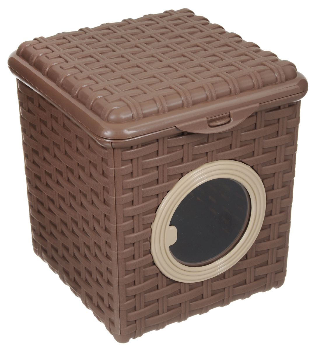 Контейнер для мелочей Violet, цвет: какао, 18 х 18,5 х 14,5 см контейнер для мелочей hobby