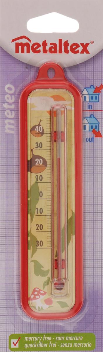 Термометр Metaltex Meteo, цвет: красный metaltex 25 24 50