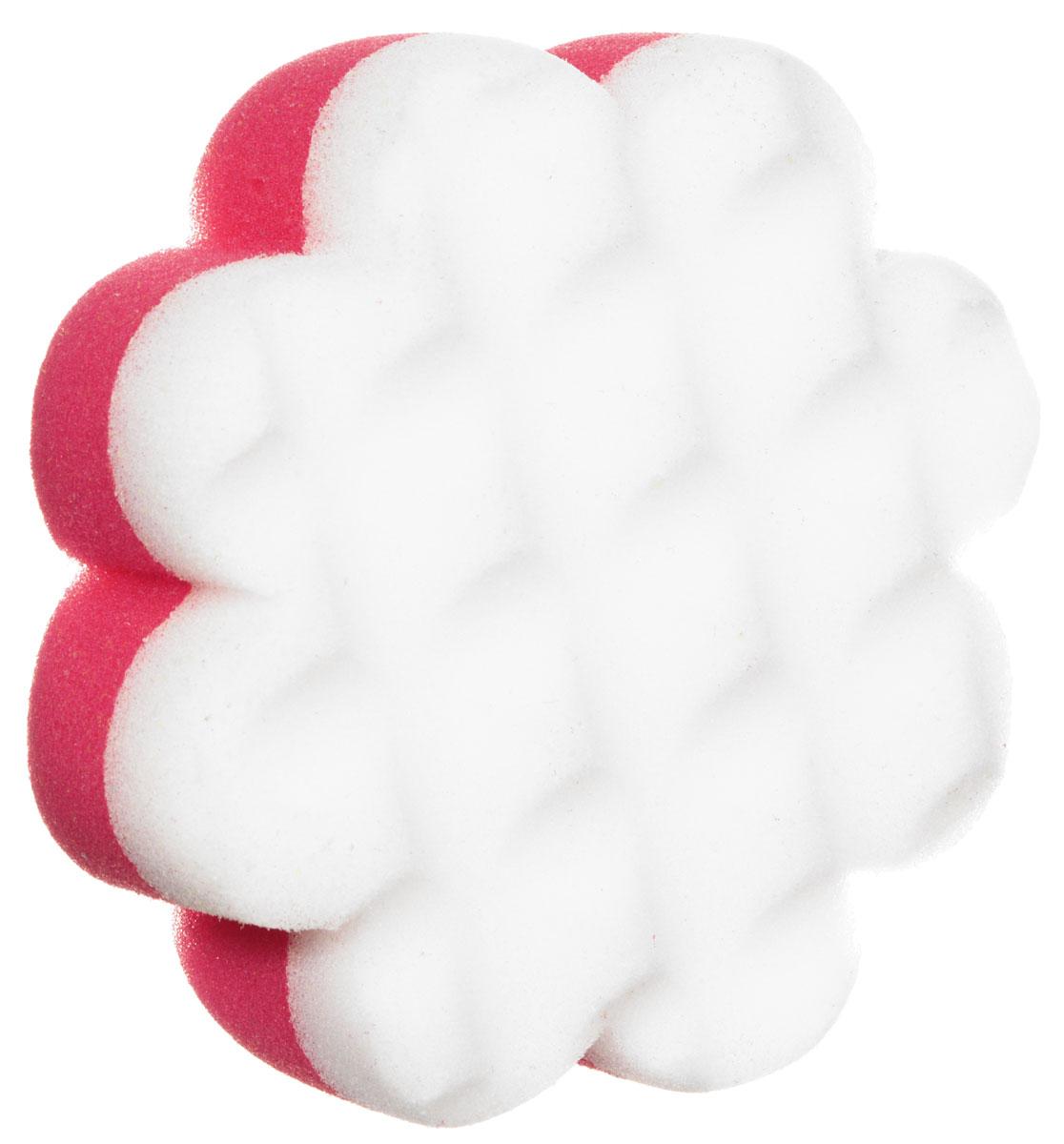 Курносики Мочалка с массажным слоем Цветок цвет розовый белый курносики мочалка с массажным слоем рыбка цвет голубой белый