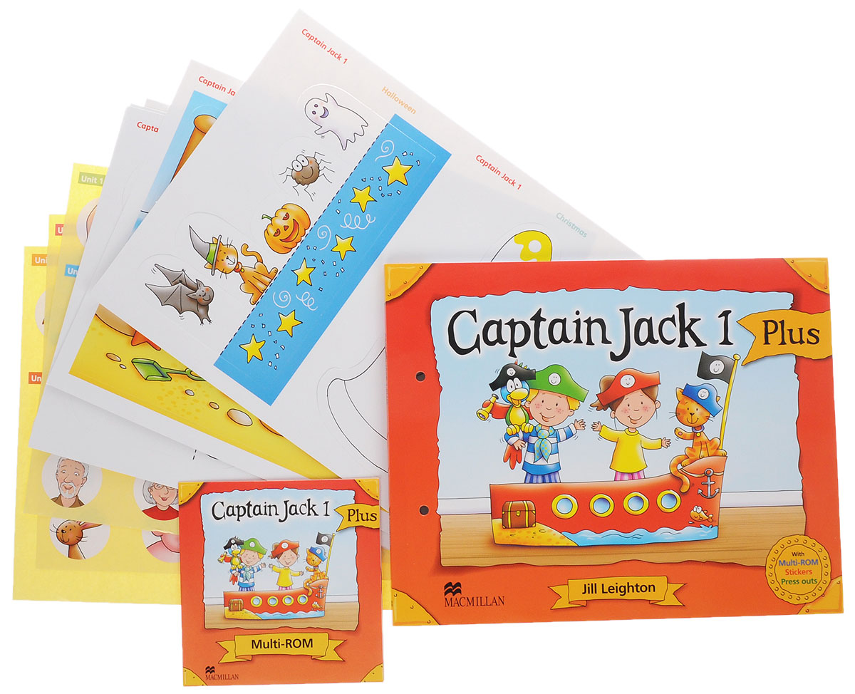 цены Captain Jack 1 Plus: Pupil's Book (+ Multi-ROM, Press outs and Stickers)