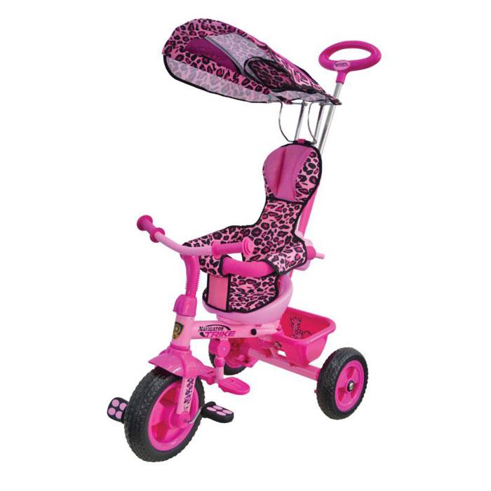 цена на Navigator Велосипед детский трехколесный Lexus Trike Сафари цвет розовый