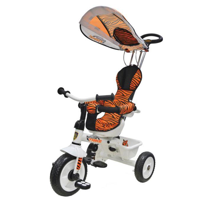 цена на Navigator Велосипед детский трехколесный Lexus Trike Сафари цвет оранжевый черный
