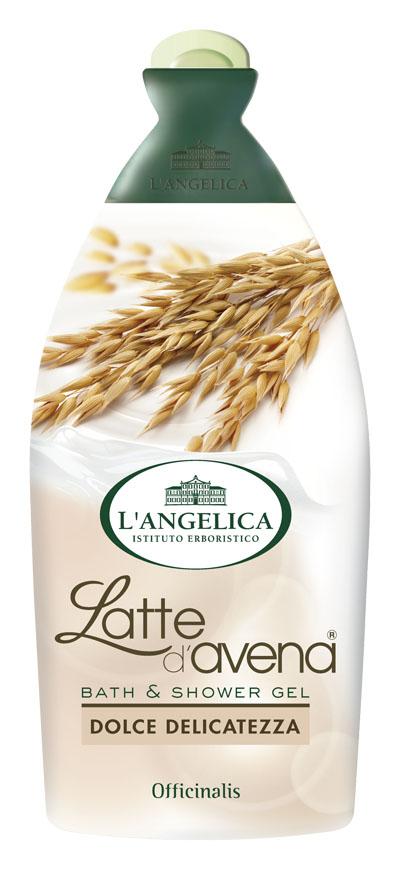 L'angelica (0621) Гель для душа и ванны с овсяным молочком, 500 мл порошок для ванны гель