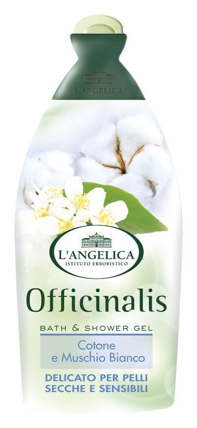 L'angelica Гель для душа и ванны Белый мускус и Хлопок, 500 мл порошок для ванны гель