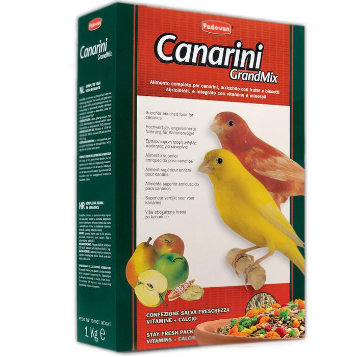Корм для канареек Padovan Grandmix Canarini, 400 г padovan корм padovan lino для птиц зёрна льна 1 кг